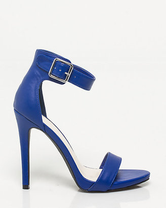 Le Château Faux Leather Ankle Cuff Sandal