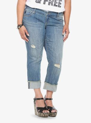 Torrid Denim - Vintage Wash Boyfriend Cropped Jeans