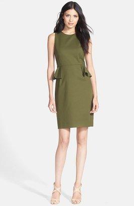 Kate Spade Peplum Stretch Cotton Sheath Dress