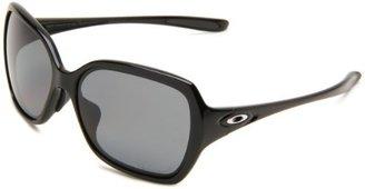 Oakley Womens Overtime OO9210-07 Polarized Round Sunglasses,Polished Black Frame/Grey Polarized Lens,one size