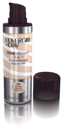 COVERGIRL and Olay Tonerehab 2-In-1 Foundation, Buff Beige 125, 1 Fluid Ounce $13.99 thestylecure.com