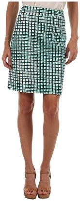 Kate Spade Judy Skirt (Figi Green Palm Springs Breeze Block) - Apparel
