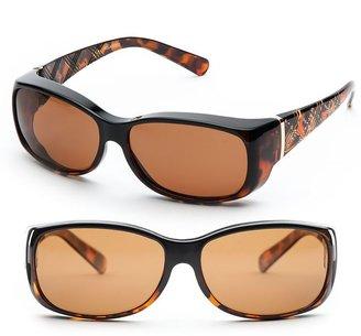 Croft & barrow ® rhinestone rectangular sunglasses