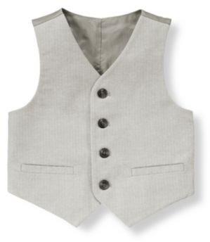 Janie and Jack Herringbone Suit Vest