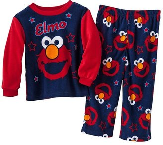 Sesame Street hello elmo fleece pajama set - baby
