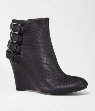 Express Buckle Back Wedge Bootie