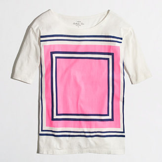 J.Crew Factory Factory stripe-square collector tee