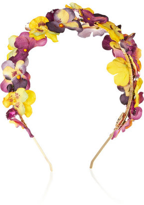 Eugenia Kim Parker paper-flower and crystal headband