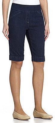Westbound Slimming Denim Bermuda Shorts
