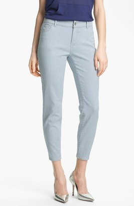 Vince Camuto Two by Pinstripe Zip Ankle Jeans