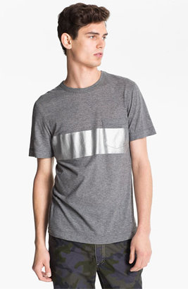 U Clothing 'Beau' Chest Stripe Pocket T-Shirt Grey Medium