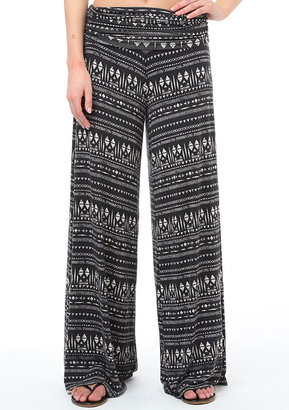 Fire Printed Wide-Leg Pant