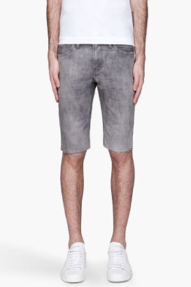 Levi's Grey mottled Cut Off denim shorts