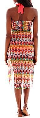 JCPenney Bisou Bisou® Print Mesh Convertible Cover-Up Dress