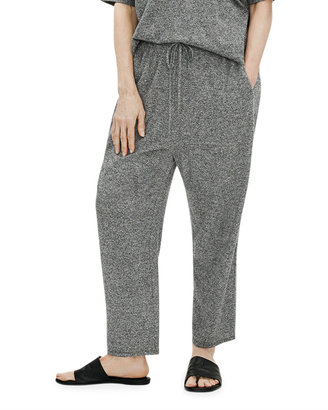 Eileen Fisher Melange Slouchy Cropped Pants