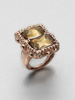 Oscar de la Renta Faceted Stone Ring