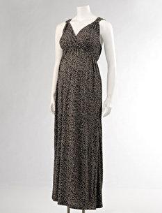 Motherhood Loved By Heidi Klum Sleeveless Empire Seam Maternity Maxi Dress