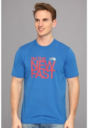 The North Face Reaxion Graphic S/S Crew (Nautical Blue) - Apparel