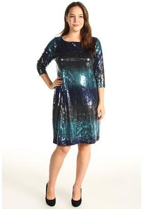 Karen Kane Plus - Plus Size Multi Sequin Dress (Multi Color) - Apparel