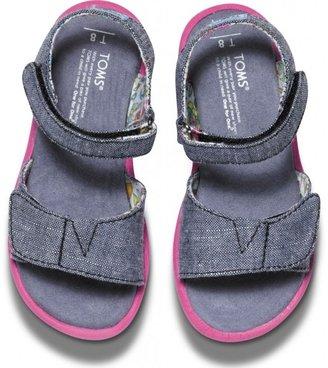 Toms Chambray Vegan Tiny Sandals