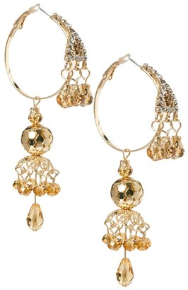 Asos Hoop Detail Chandelier Earring - Gold