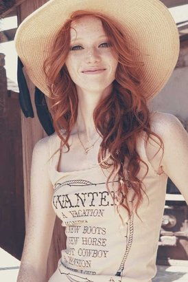 Wildfox Couture Wanted Buffalo Tank in Ghost Tan