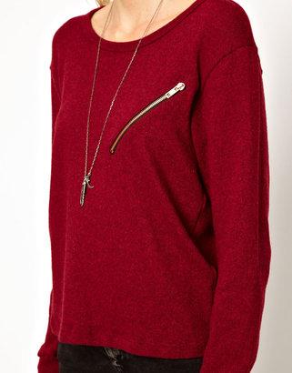 LnA Carter Zip Pocket Sweater
