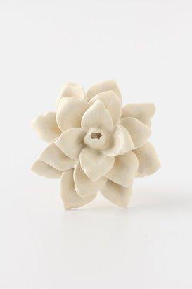 Anthropologie Linen Flower Knob