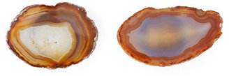 S/2 Agate Knobs, Natural