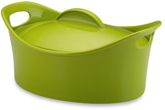 Rachael Ray 4 1/4-Quart Covered Oval Casserole - Green
