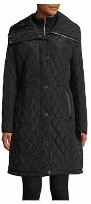 "DKNY 37"" Quilted Inner Bib Jacket"