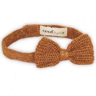 Oeuf Mustard Glitter Bow Headband