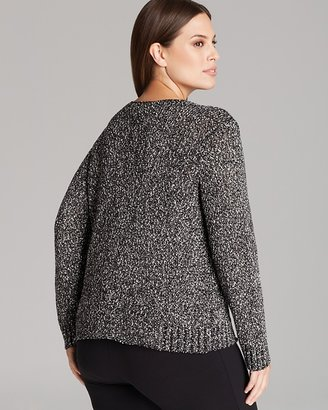 Eileen Fisher Plus Nubble V Neck Box Top