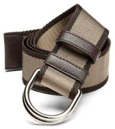 Prada Bicolor Webbed D-Ring Belt