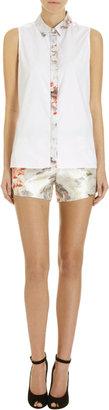 Prabal Gurung Watercolor Floral Shorts