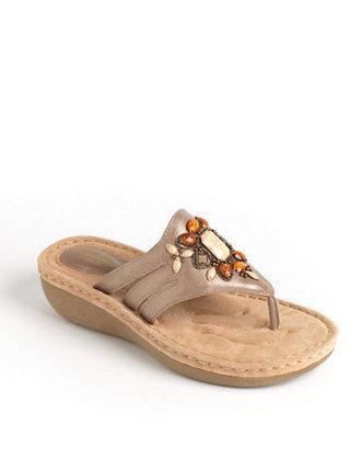 Clarks Amaya Yarrow Embellished Leather Sandals