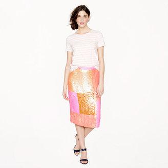 J.Crew Collection sequin patchwork pencil skirt