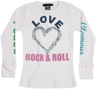Baby Trend Flowers By Zoe Love Heart & Rock & Roll Thermal Shirt
