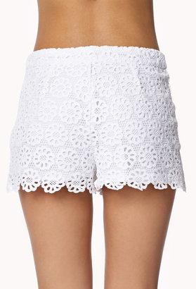 Forever 21 Retro Daisy Crocheted Shorts