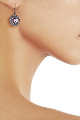 Solange Azagury-Partridge Step 18-karat blackened white gold amethyst earrings