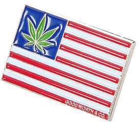 Good Worth & Co. The Smoke American Pin in Red, White, & Blue