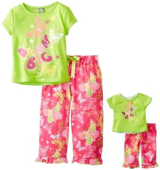 Dollie & Me Little Girls' Short Sleeve Dream Big Pant Sleep Pajama Set