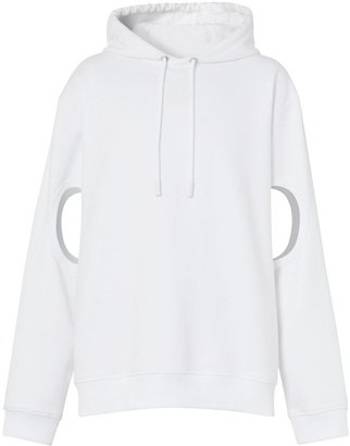 Burberry Cut-out Sleeve Globe Graphic Cotton Hoodie