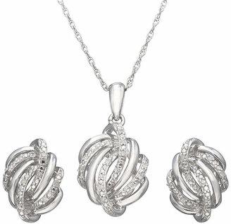 FINE JEWELRY 1/10 CT. T.W. Diamond Love Knot Boxed Jewelry Set
