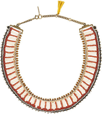 Isabel Marant Glass bead and bone necklace