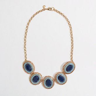 J.Crew Factory Factory stone and bead cameo necklace