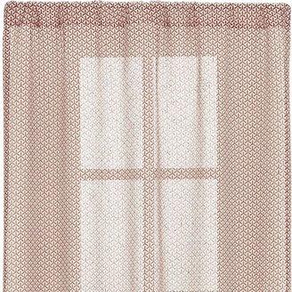 Crate & Barrel Rasta Persimmon Sheer 48x96 Curtain Panel