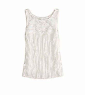 American Eagle AE Embroidered Crinkle Tank