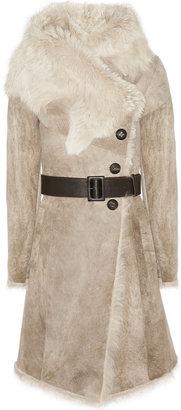 Karl Donoghue Belted shearling coat