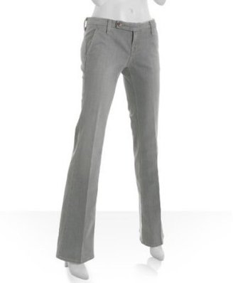 Raven light grey denim 'Mckenzie' flare leg stretch trousers